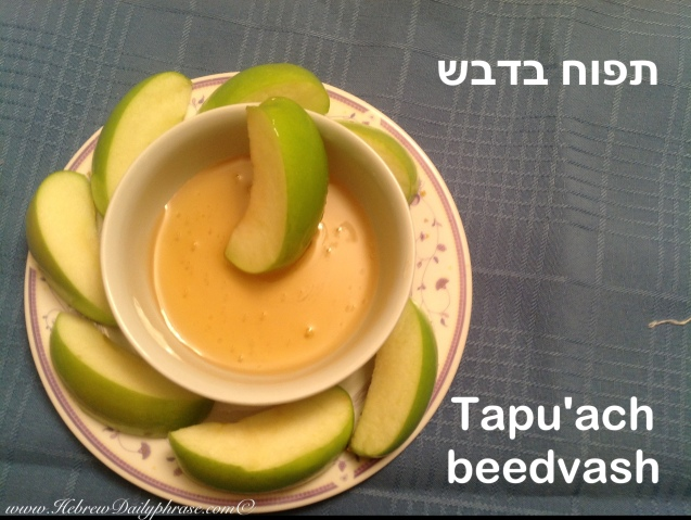apple dipped in honey  תפוח בדבש