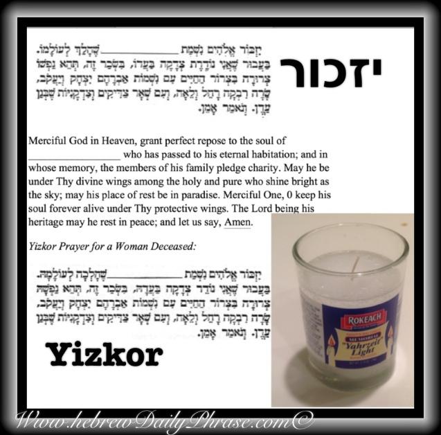 Memorial Prayer יזכור Yizkor