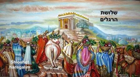 Three Pilgrimage Festivals: passover, sukkot, shavuot  שלושת הרגלים